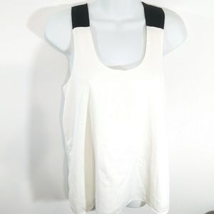 Banana Republic Sleeveless Black Strap Blouse
